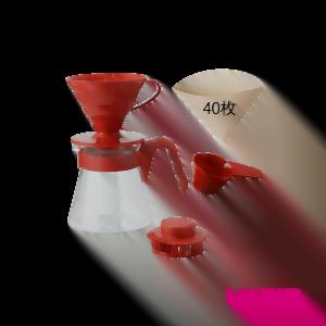 Набор Hario V60 пластиковый красный
